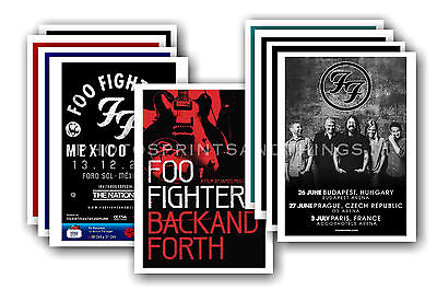 FOO FIGHTERS - 10 promotional posters - collectable postcard set # 1