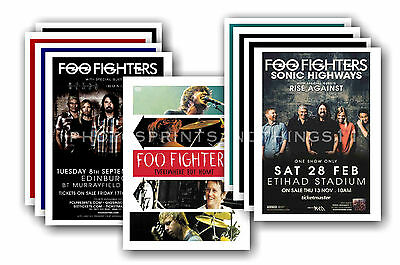 FOO FIGHTERS - 10 promotional posters - collectable postcard set # 2