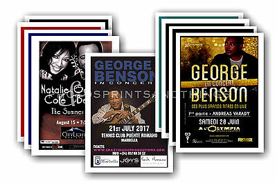 GEORGE BENSON - 10 promotional posters  collectable postcard set # 1