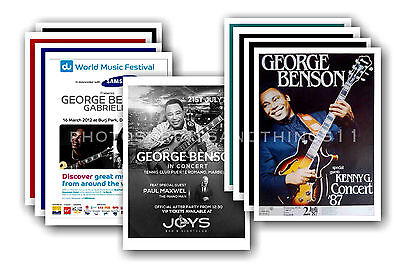 GEORGE BENSON - 10 promotional posters  collectable postcard set # 2