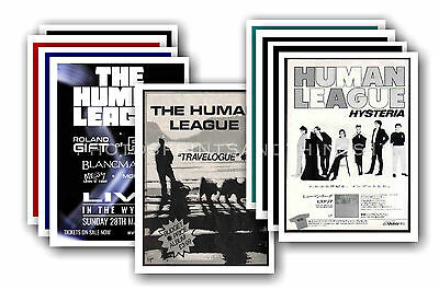 HUMAN LEAGUE - 10 promotional posters  collectable postcard set # 2