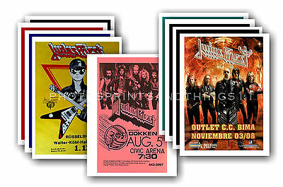 JUDAS PRIEST - 10 promotional posters  collectable postcard set # 1