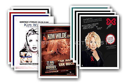 KIM WILDE - 10 promotional posters  collectable postcard set # 1
