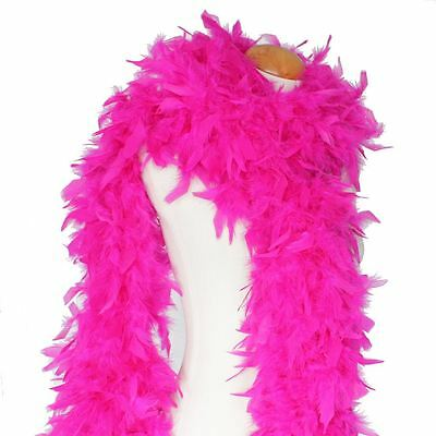 180cm Feather Boa Hot Pink Fluffy Burlesque Dance Fancy Dress Hen Night Party