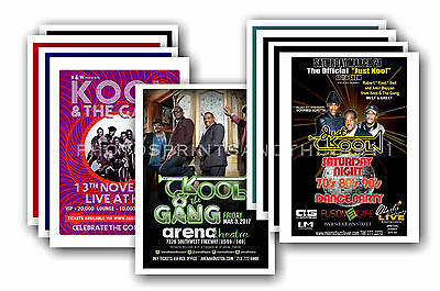 KOOL & THE GANG - 10 promotional posters  collectable postcard set # 1