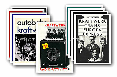 KRAFTWERK - 10 promotional posters  collectable postcard set # 1