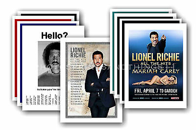 LIONEL RICHIE  - 10 promotional posters  collectable postcard set # 1