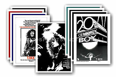 MARC BOLAN & T REX  - 10 promotional posters  collectable postcard set # 1