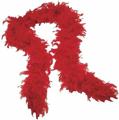 Quality Red Feather Boa Flapper Burlesque Dance Fancy Dress Hen Accessory