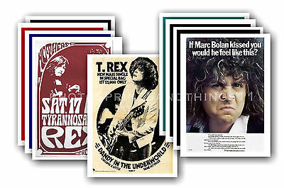 MARC BOLAN & T REX  - 10 promotional posters  collectable postcard set # 2