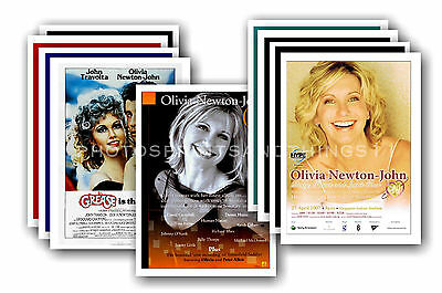 OLIVIA NEWTON JOHN  - 10 promotional posters  collectable postcard set # 1