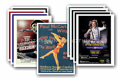 PAUL McCARTNEY  - 10 promotional posters  collectable postcard set # 2