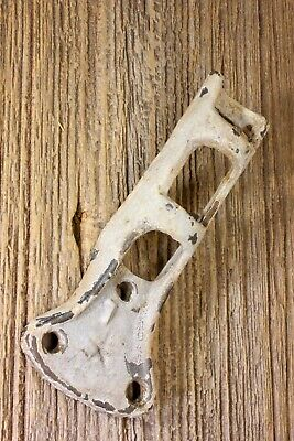 "1"" Flag Pole bracket banner holder rustic old strong cast iron vintage paint 18°"