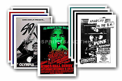 SEX PISTOLS  - 10 promotional posters  collectable postcard set # 1
