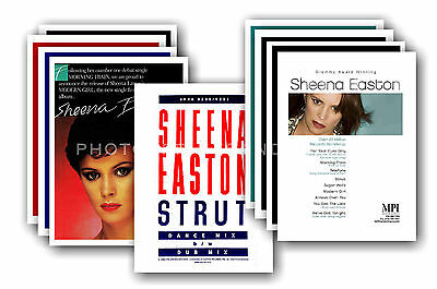SHEENA EASTON  - 10 promotional posters  collectable postcard set # 1