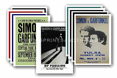SIMON & GARFUNKEL  - 10 promotional posters  collectable postcard set # 1
