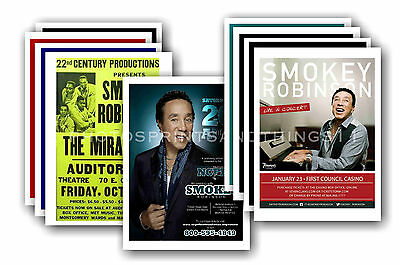 SMOKEY ROBINSON  - 10 promotional posters  collectable postcard set # 2