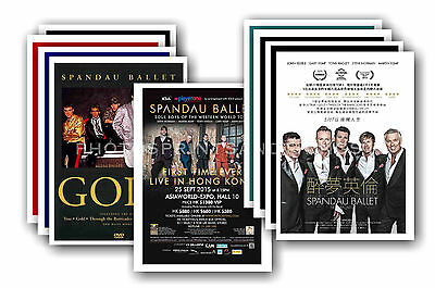 SPANDAU BALLET  - 10 promotional posters  collectable postcard set # 1