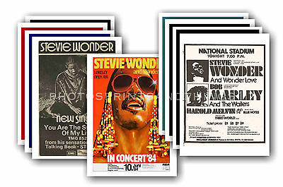 STEVIE WONDER  - 10 promotional posters  collectable postcard set # 1