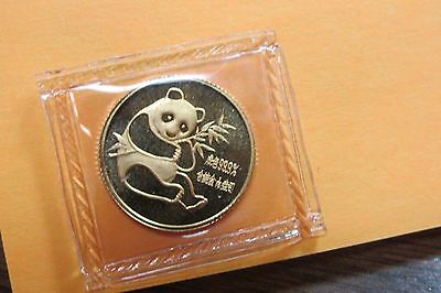 1982 China Gold 1/10 oz Panda Coin Sealed Mint Package 1st Year Issued -A-