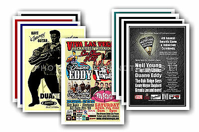 DUANE EDDY  - 10 promotional posters  collectable postcard set # 2