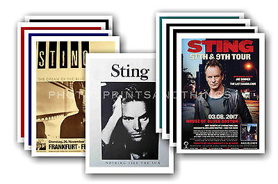 STING  - 10 promotional posters  collectable postcard set # 1