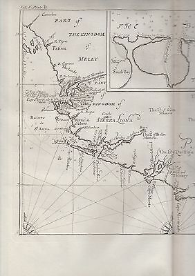 1744 Folio Map - KINGDOM OF SIERRA LEONE, WEST AFRICA - Coast & Tribes - Jan Kip