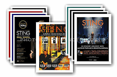 STING  - 10 promotional posters  collectable postcard set # 2