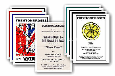 STONE ROSES - 10 promotional posters  collectable postcard set # 2