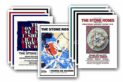 STONE ROSES - 10 promotional posters  collectable postcard set # 3