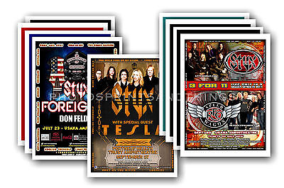 STYX - 10 promotional posters  collectable postcard set # 1