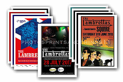 THE LAMBRETTAS - 10 promotional posters  collectable postcard set # 1