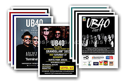 UB40 - 10 promotional posters  collectable postcard set # 1