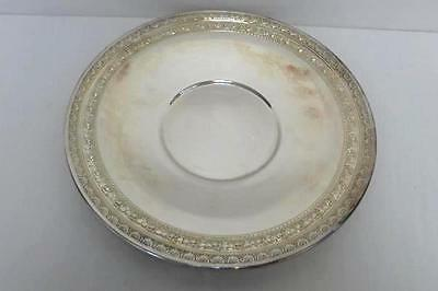 "Wallace Silver Plate 10.5"" Round Serving Tray Display Bowl Embellished Rim"