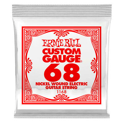 Ernie Ball .068 Nickel Wound Single Electric Guitar String NEW