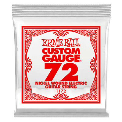 Ernie Ball .072 Nickel Wound Single Electric Guitar String NEW