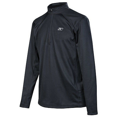 Klim Men's Defender Moisture-Wicking Base-Layer 1/4 Zip Shirt - Black