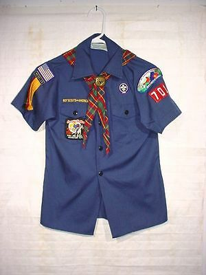 BSA Boy Cub Scouts Heart of Virginia Council Troop 701 Blue Youth Shirt Size Med
