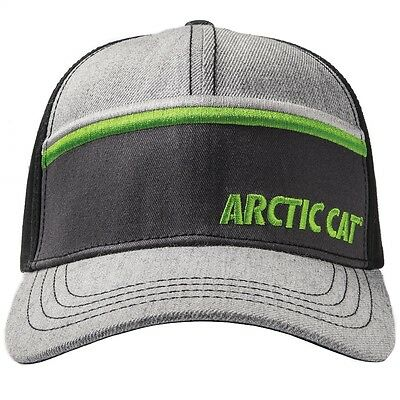 Arctic Cat Stripe Snap Back Acrylic Wool Cotton Cap - Gray & Black - 5273-103