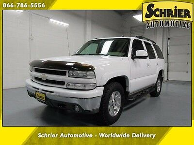 2004 Chevrolet Tahoe  04 Chevy Tahoe White 4WD Leather Bose Audio Hitch Receiver 7 Passenger