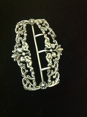 Victorian Sterling Silver Stock/Nurses Buckle By WFG