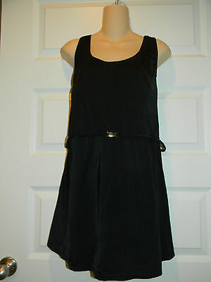 Motherhood Maternity Black Swim Top Dress Tunic Sz 3X!