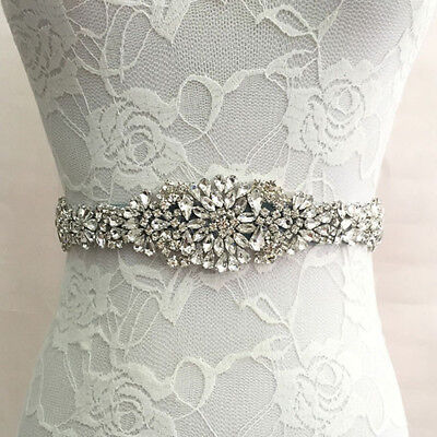 Romatic Wedding Bridal Belt Crystal Rhinestone Dress Sash Prom Wedding Belt