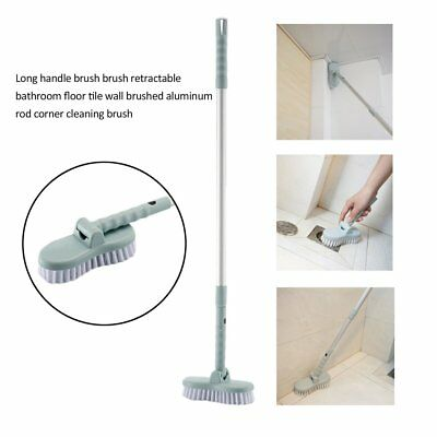 Retractable Cleaning Tools Home Floor Toilet Bathroom Tile Long Handle Brush GH