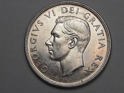 1951 Silver Canadian Dollar (Full Water Lines). CANADA.  #39