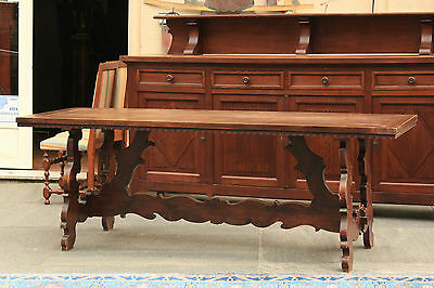 Table Fratino Wood Walnut Solid, Period Xix Century / Table Fratino