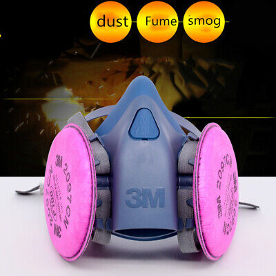 3M 7502 Half Face Spray Painting Dust Mask Reusable Respirator 2097 P100 Filters