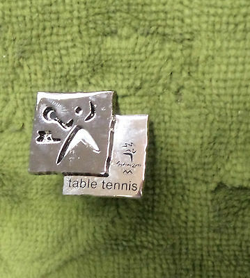 2000 Olympic Sports Metal Badge - Table Tennis