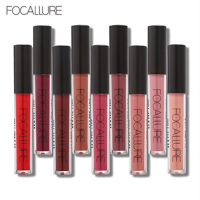 47 Colors FOCALLURE Long Lasting Waterproof Matte Makeup Lipstick Liquid Gloss