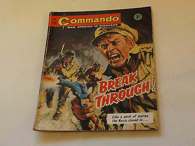 Commando War Comic Number 196!,1966 Issue,good For Age,51 Years Old,very Rare.